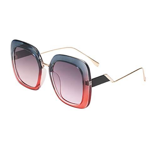Sunglasses for Women Men SFE Unisex Vintage Retro RRadiation Protection Round ()