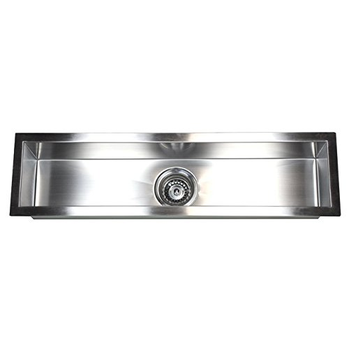 ARIEL F3208 32 Inch Zero Radius Design Undermount Stainless Steel Bar/Prep Sink