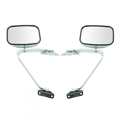 Side View Manual Mirrors Chrome Pair Set for Ford F-Series Pickup Truck