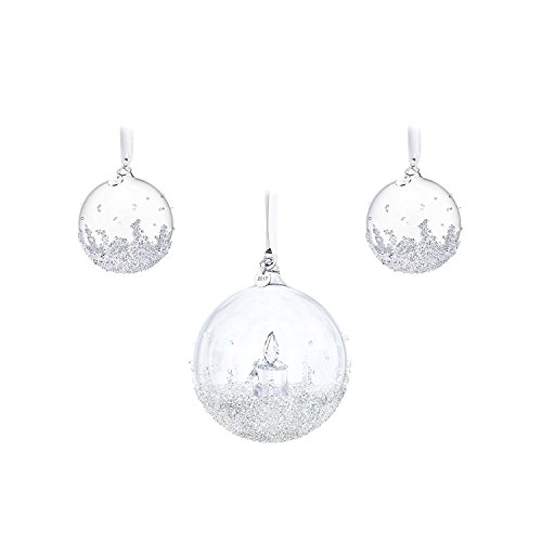 Swarovski Christmas Ball Ornament Set, Annual Edition 2017 5268012 ()