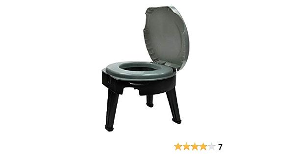 Ntribut Toilette Portable Toilettes Pliantes Toilettes De Camping en Plein Air Convient pour Le Camping Et La Randonn/ée