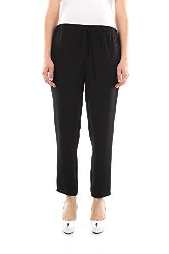 IB3RB00D1MM0NO Valentino Pantalones Mujer Seda Negro Negro
