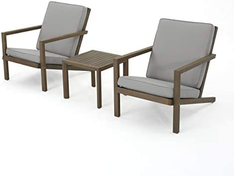 Christopher Knight Home Leah Outdoor Acacia Wood Chat Set