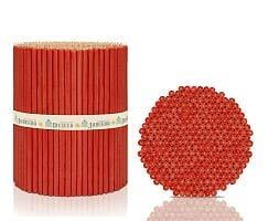 100 Stück 16,5cm Festliche Rote Kirchliche Kerzen Красные Праздничные свечи N100