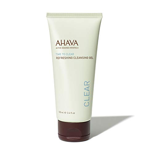 AHAVA Dead Sea Minerals Face Wash, Time to Clear, Refreshing Cleansing Gel, 3.4 Fl Oz