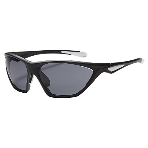 NAGA Sports Sunglasses Charger UV400 Choose Polarized or Normal Lens (POLARIZED Grey Lens Black Frame)