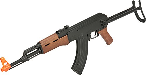Evike - CYMA CM522S AK47S Sportsline Under-Folding Airsoft AK47 AEG Rifle - Simulated Wood Furniture
