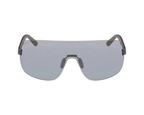 Gucci Sunglasses - 2257 / Frame: Ruthenium Gray Lens: Silver Mirror