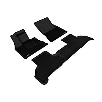 Image of 3D MAXpider L1BM05501509 Complete Set Custom Fit All-Weather Floor Mat for Select BMW X5 (F15)/ X6 (F16) Models - Kagu Rubber (Black) Cargo Liners