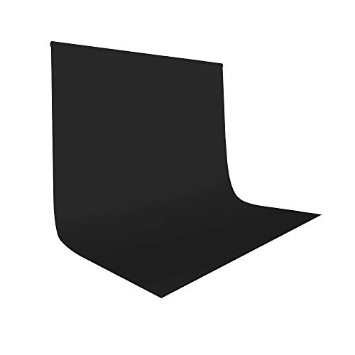 UTEBIT Black Photography Backdrops 7x10ft / 2x3m Collapsible Photo Booth Polyester Blackground Sheet Wrinkle Resistant Backdrop for Portrait Photo Studio Video Shooting