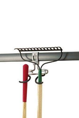 RUBBERMAID Satin Nickel FastTrack 2-Handle Hook 8.11 x 9.38