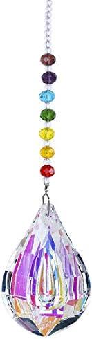 H&D HYALINE & DORA Crystal Rainbow Suncatcher Glass Chakra Beads Pendant Window Hanging Drop Prism Home Decor 76mm