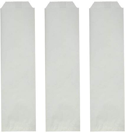 Bagcraft Papercon 300039 ToGo Silverware Bag, 10'' Length x 2-3/4'' Width, White (Case of 2000) (3-(Pack))