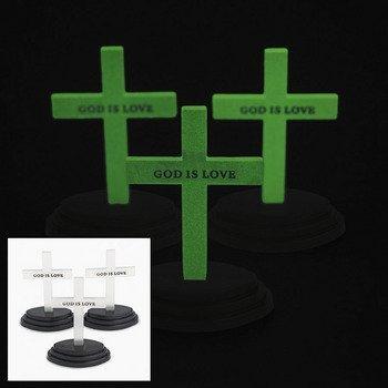 (12 Glow-In-The-Dark Crosses)