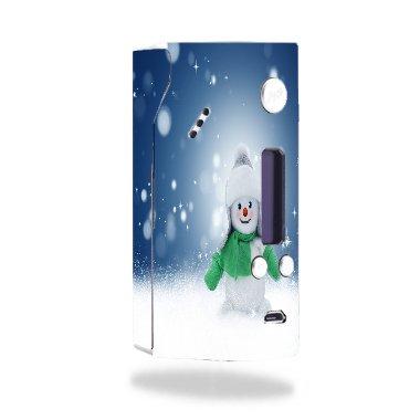 Wismec Reuleaux Evolv DNA 200 Vape E-Cig Mod Box Vinyl DECAL STICKER Skin Wrap / snowman Xmas Winter Snow Stars Printed Design (Best Dna 200 Mod)