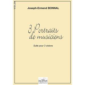 (3 portraits de musiciens for 3 violins (Haendel, Haydn, Rameau))