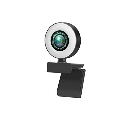 WANYANG 1080P Webcam with Microphone Autofocus Computer Camera for Conference Video 3 Gear Lights
