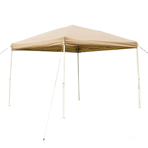 NatureFun 10 x 10 Feet Outdoor Steel Frame Pop Up Patio Instant Canopy, PU Coated