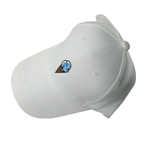 Price comparison product image Sport Cap, HP95(TM) Fashion Men Women Peaked Hat HipHop Curved Strapback Snapback Baseball Cap adjustable (White)