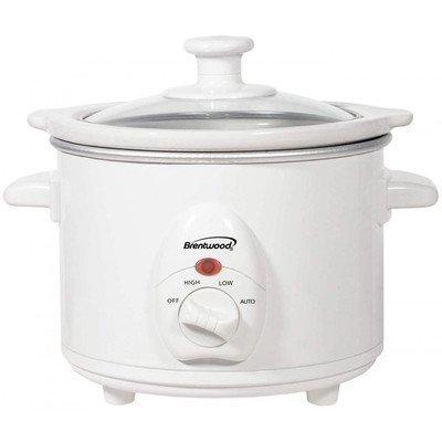 Brentwood Appliances SC-115W Slow Cooker, 1.5-Quart, White B