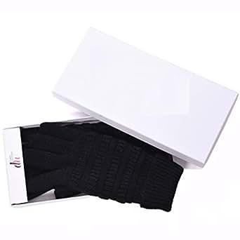 DEBRA WEITZNER Knit Winter Gloves Women and Men Thinsulate Glove Black
