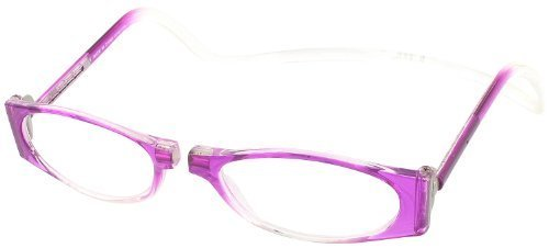 Clic Petites Single Vision Full Frame Designer Reading Glasses, Pink / Crystal, +1.50 by Clic Reading - Glasses Petite Reading