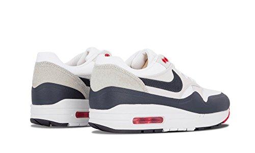 Nike Mens Air Max 1 White Blue OG Patch SP White Obsidian Red Trainer White