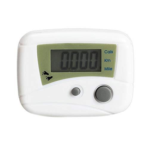 Baguio-Store - Electronic LCD Run Walking Pedometers Walking Distance Calorie Kilometer Miles Step Counter Stappenteller White