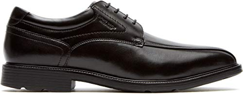 Rockport Men's Insider Details Bike Toe Oxford,Black Leather,US 7 W