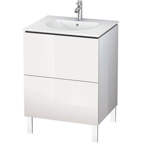 - Vanity unit L-Cube floor standing 704x620x614, White High Gloss ()