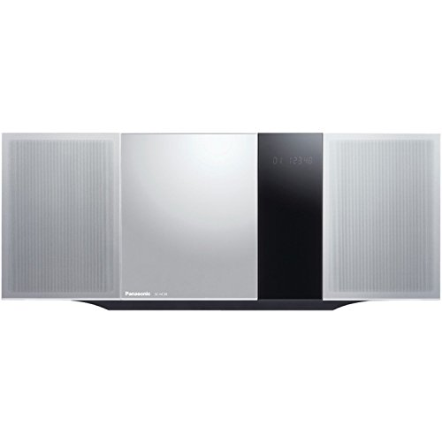Panasonic Micro Home Audio Sound System SC-HC39 (Metallic Silver) Bluetooth Music Play, Stylish Design