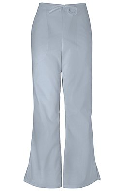Cherokee Workwear Originals Women's Natural Rise Flare Leg Scrub Pants Medium Grey