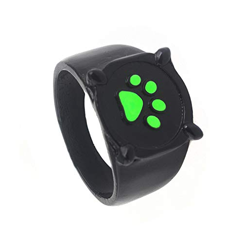Ladybug Ring Cat Noir Rings - Cat Noir Costume for Kids Miroculous Cat Noir Toys US Size 7 Cosplay Props Accessories ()
