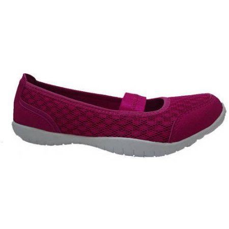 Danskin Now Women's Memory Foam Slip-On Athletic Ballet Flat Sho (B(M) US 9, Magenta) For Sale
