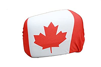 Canada Country Flag Car Side MIRROR COVERS .. 2 in a Pack ..New