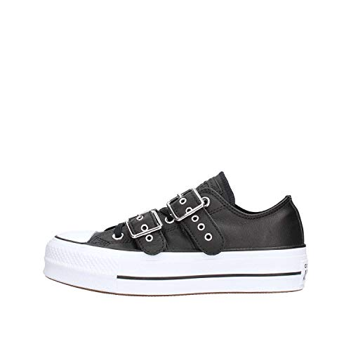 Basse Ox Converse Taylor Donna Nero Ctas bianca Nero 001 Buckle Lift bianca Ctas   813b23