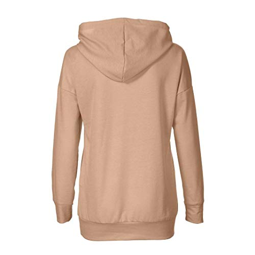Tops Kaki Automne Long Imprim Chemisier Shirt Blouse A Hoodies Manches Longues Sweat Capuche Femme Capuche Hooded Chemisier Sweat Kangrunmy Sweat Chemise Chic wfUT10xqT7