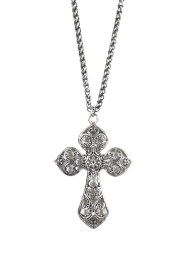 Floral Center Scrollwork Cross Necklace by Ganz