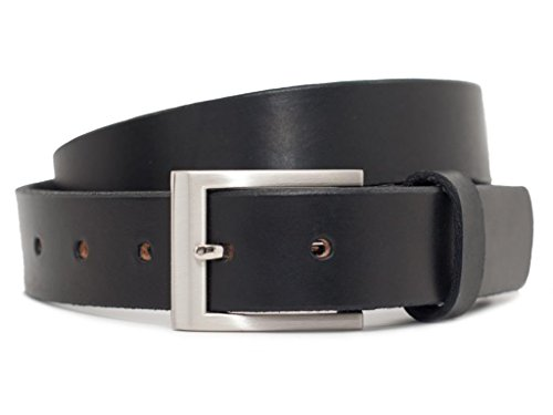 Leather Square Buckle Belt (Nickel Free Silver Square Belt (32