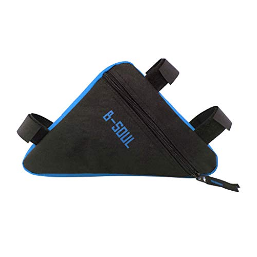 (charmsamx Bicycle Strap-On Bike Saddle Bag/Seat Bag/Cycling Bag, Sport Bicycle Bike Storage Bag Triangle Frame Bag Pouch Cycling Accessories (Blue))