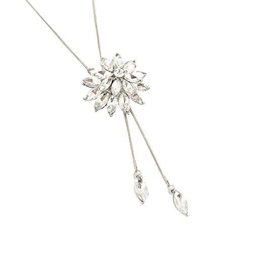Vielgluck 2019 Fashion Jewelry, Personalized Floral Crystal Necklace Party Dress Exquisite Pendant Gift for Her