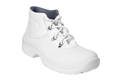 AWC ECO SAFE S2 SRC Sicherheitsschuhe / Stiefel mit Stahlkappe Weiß