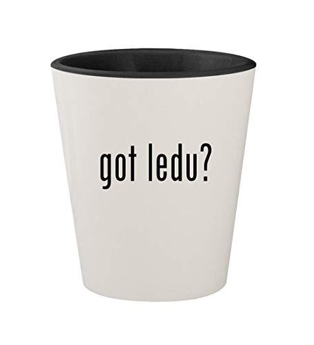got ledu? - Ceramic White Outer & Black Inner 1.5oz Shot Glass