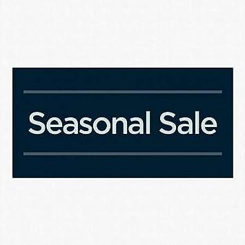 Classic Navy Perforated Window Decal Seasonal Sale CGSignLab 96x48