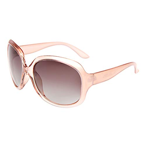 - BEEAN Polarized Resin Lightweight Sunglasses Classic Retro Sun Glasses for Women Men, Champagne, Gradient Brown