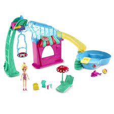 Polly Pocket Fruit Water Park With Polly and Dolphin PARQUE DE FRUTAS