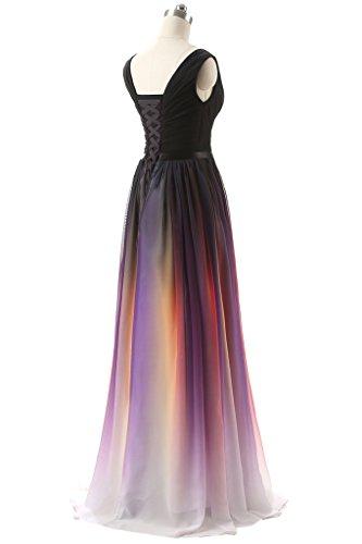 V Albrose A Kleid Purple Linie Neckline Damen FxZIHxqw