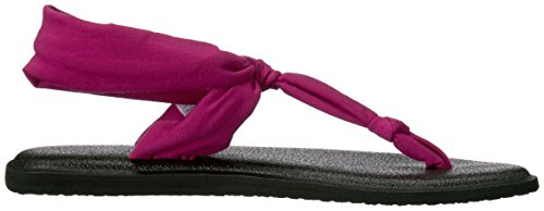 4 Vivid Women's Hazy Black Sanuk Ella Yoga Flip UK Violet Flop Sling Palms zUOFPqRw