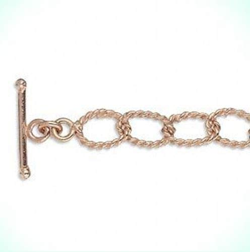 Bright 100% Pure Copper 9x7mm Fancy Oval Link Lightweight 24
