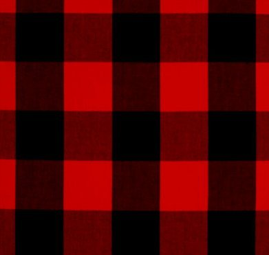 Red Plaid Valance (Red and Black Plaid Curtain Valance by AllTot)